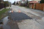 Załatana dziura w ul. Chocimskiej