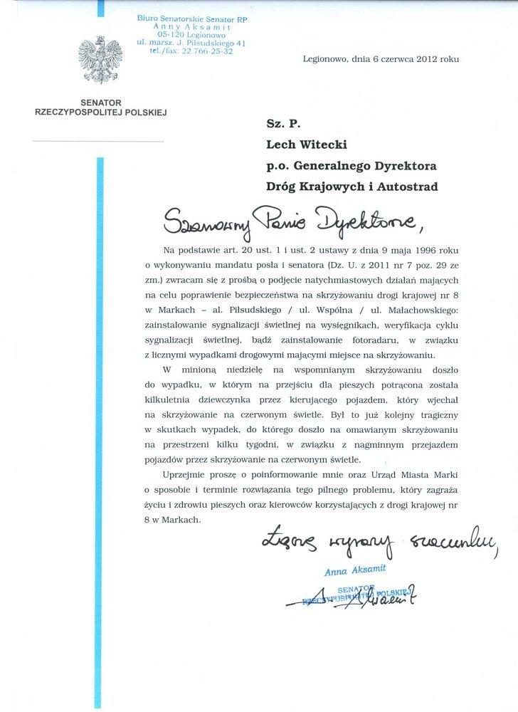 List do GDDKiA (06.06.2013)