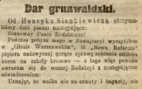 Nowa Reforma. 1909, nr 234, numer popołudniowy, p0001, wycinek