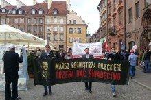 Marsz Rotmistrza Pileckiego, Rynek Starego Miasta w Warszawie,  14 maja 2016