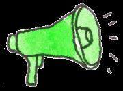 megafon zielony