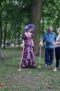 Gra w krokieta z Florą Briggs w Parku Miejskim Delegacja z Bradford
