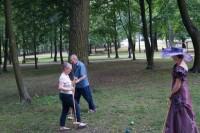 Gra w krokieta w Parku Miejskim w Markach Delegacja z Bradford