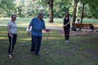 Krokiet w Parku Miejskim w Markach Delegacja z Bradford