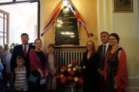 Delegacja z Bradford Odsłonięcie tablicy Briggsów u św. Izydora