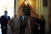 Stowarzyszenie Marki Pustelnik Struga Odsłonięcie tablicy pamiątkowej Briggsów u św Izydora