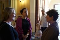 od lewej Dr Sarah Dietz z Bradford, Rose Haigh z Bradford, Elzbieta Jasińska z Warszawy