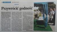 Nasz Dziennik  artykuł o pochówku dzieci nienarodzonych w Bydgoszczy