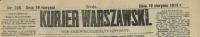 Kurjer Warszawski. R. 94, 1914, nr 228, p0001-sel