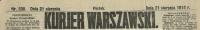 Kurjer Warszawski. R. 94, 1914, nr 230, p0001-sel