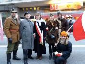 Marsz Niepodległości 2017 grupa rekonstrukcyjna z Mielca