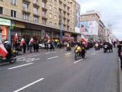 Motocykliści na Marszu Niepodległości 2017