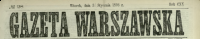Gazeta Warszawska. 1893, nr 28, p0001
