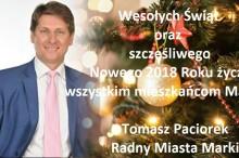 Wesolych Swiat zyczy mieszkancom Marek Tomasz Paciorek