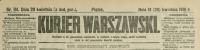Kurjer Warszawski. R. 81, 1901, nr 114, p0001-sel