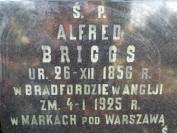 Napis na grobie Alfreda Briggsa