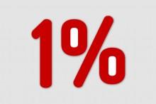 jeden procent grafika