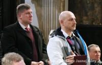 Burmistrz Jacek Orych na zawierzeniu Miasta Marki Niepokalanemu Sercu Maryi na Jasnej Górze 2 lutego 2018