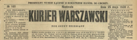 Kurjer Warszawski. R. 110, 1930, nr 141, p0001-sel