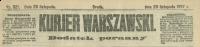 Kurjer Warszawski. R. 87, 1907, nr 321, dodatek poranny, p0001-sel