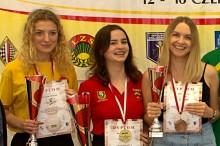 Zwyciężczynie Mistrzostw Polski Kobiet (od lewej): Katarzyna Stańczuk, Marta Bańkowska, Natalia Sadowska; fot. A.Biadasiewicz