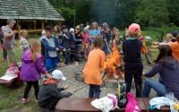 Kolejka wąskotorowa w Sochaczewie ognisko