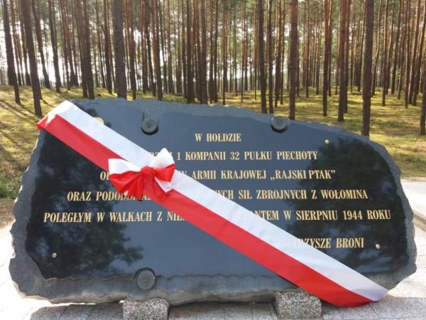 Pomnik ku czci żołnierzy AK i NSZ odsłonięty 19 sierpnia 2018
