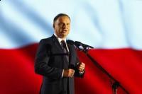 Prezydent RP Andrzej Duda przemawia przed Widowiskiem na Placy Piłsudskiego