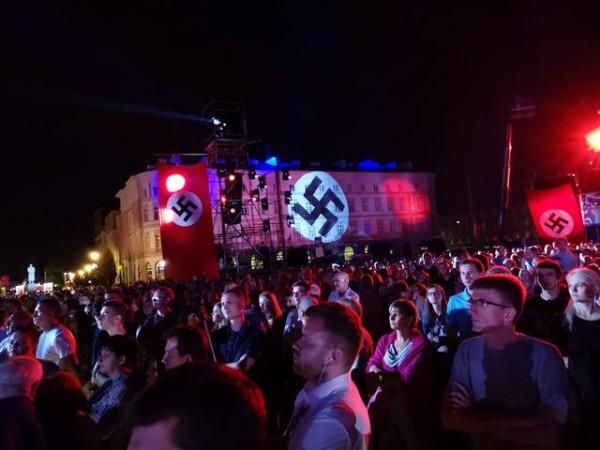 Widowisko na Placu Piłsudskiego