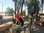 Poczet sztandarowy 17 września 2018 Katolickiego Liceum Ogólnokształcącego im bł. Bronisława Markiewicza u Księży Michalitów