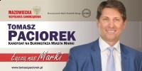 Tomasz Paciorek kandydat na Burmistrza Marek