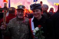 Gwardia Narodowa - Bogumił Tomasiewicz oraz Bogusława Sieroszewska na Marszu Niepodległości 2018