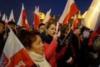Marsz Niepodległości 2018 śpiew prowadzi Kasia Stachura z Żywca