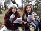 Bogusława Sieroszewska i Katarzyna Kowcia Mareckie śpiewanie piosenek Żołnierzy Wyklętych 2019