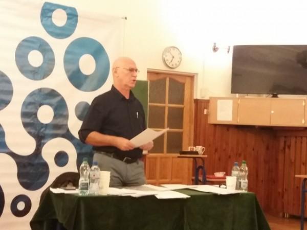 historyk Leszek Żebrowski w Markach Pałacyk Briggsów 16 października 2018 (2)