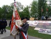 Krzyż Traugutta południoowe stoki Cytadeli Warszawskiej