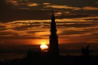 Zachód słońca na Jasnej Górze