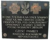 Szaniawy tablica pamiątkowa z PRL -u