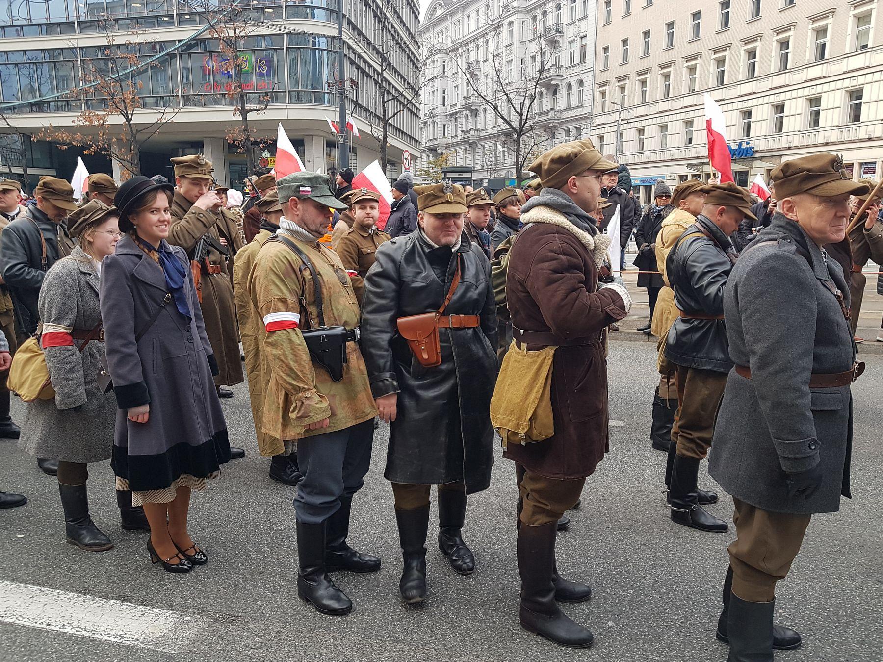 Tomasz Kaczyński grupa rekonstrukcyjna z Marek Marsz Niepodległości 2019