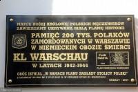 Tablica ku pamięci KL Warschau na Jasnej Górze 2017