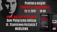 reklama promocji książki w Domu Pielgrzyma Amicus na Żoliborzu